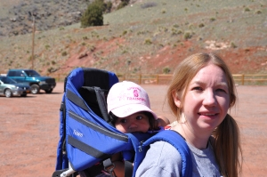 Aubrey's first hike at Red Rocks