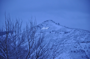 Lookout Mountain in the snow